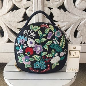 Urban Expressions Embroidered Crossbody Tote